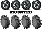Kit 4 High Lifter Outlaw 3 Tires 35x9-20 On Fuel Triton Gloss Black Wheels 550