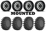 Kit 4 Sti Outback Max Tires 35x9-20 On Fuel Stroke Gloss Black Wheels Can