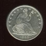 1849-o Seated Half Dollar | Choice Almost Uncirculated | New Orleans | Cp2534