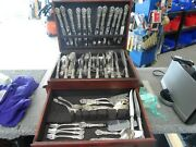Reed And Barton Francis I 73pc. Sterling Silver Flatware Set W/ Wood Storage Box