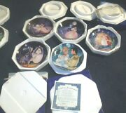 Lot Of 5 Franklin Mint Cinderella - - Fairy Godmother Collector Plate Le