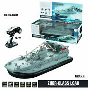 Hg-c201 1/110 2.4g Rc Hovercraft Kit Remote Control Speed Boat With Soundandlight