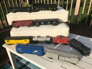 Lionel 10train Cars 6456, 6464, Coal Car, 6257 Caboose And Others Used Vintage