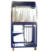 Screen Printing Quick Clean Washout Booth With Back Lighting Vertical Rinse Sink