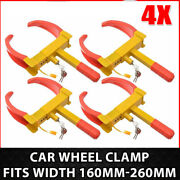 4x Anti-theft Wheel Lock Clamp Boot Tire Claw Auto Car Truck Rv Boat Towing