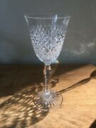 Stuart Crystal Mayfield Water Goblet Glass Cut Diamond 8 7/8 Sold Individually