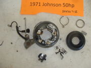 1971 72 73 74 75 Johnson 3cyl 50esl71e 50hp Points Plate Pick Up Ring Timing