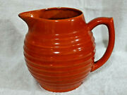 24 Bauer Pottery Ringware Large Ring Pitcher Orange Vintage California 7andfrac12tall