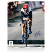 Bradley Wiggins Signed Limited Edition Team Gb Photo Individual Time Trial Gold