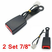 2x 7/8 Car Accessories Seat Belt Buckle Padding Socket Plug Connector W/cable