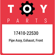 17410-22530 Toyota Pipe Assy Exhaust Front 1741022530 New Genuine Oem Part