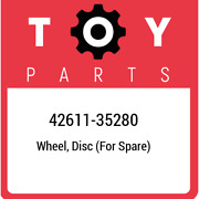 42611-35280 Toyota Wheel Disc For Spare 4261135280 New Genuine Oem Part