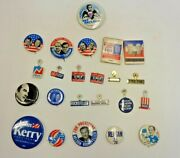 Lot Of 23 Politcal Pinback Buttons, Tabs And Matches, Nixon, Reagan, Rocky,