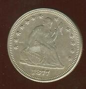 1877 Seated Liberty Quarter | Gem Almost Uncirculated | Philadelphia | Cp1882