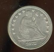 1872 Seated Liberty Quarter   Almost Uncirculated   Philadelphia   Cp1874