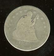1856 Seated Liberty Quarter | About Good | Philadelphia | Cp1869