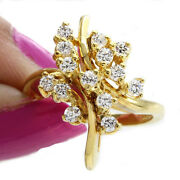 0.42ct Diamond 14k Yellow Gold Well Crafted Womenand039s Christmas Engagement Ring