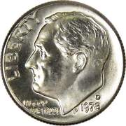 1978 D Roosevelt Dime Bu Uncirculated Mint State 10c Us Coin Collectible