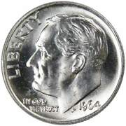 1964 Roosevelt Dime Bu Uncirculated Mint State 90 Silver 10c Us Coin