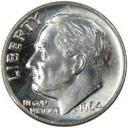 1964 D Roosevelt Dime Bu Uncirculated Mint State 90 Silver 10c Us Coin