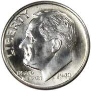 1949 S Roosevelt Dime Bu Uncirculated Mint State 90 Silver 10c Us Coin