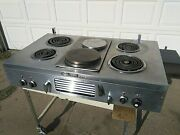 Vintage Chambers Built-in Combo Electric And Gas Stove Stainless Model 42 4ebx