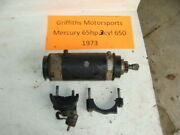 1973 73 72 Mercury Outboard 65hp 3cyl 650 Electric Starter Motor Start Clamps