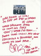 Small Faces Handwritten Lyrics To Itchycoo Park By Ian Mclagan. One Of A Kind.