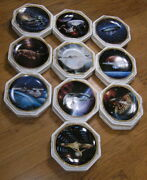 Star Trek Voyagers 10 Collector Plates Complete Set 1994 The Hamilton Collection