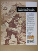 1988 American Eagle Gold And Silver Bullion Coins Vintage Print Ad