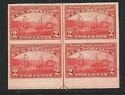 [mc3]...us 373 Mint-nh 1909 Intact Arrow Block Imperforate Hudson-fulton Issue