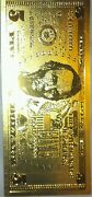 New Cool.999 Fine Gold Us5 Rep. Banknote Free Shipping In Usgreat Gift 4 All