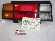 Used Cheverolet Cavalier 1983and039 Left Tail Light Drivers Quality