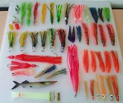 Trolling Fishing Lures Hoochie Squid Skirts Bubblers Asorted Lot Some Vintage