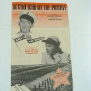 Song Sheet Ac-cent-tchu-ate The Positive Bing Crosby Betty Hutton 1944