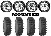 Kit 4 System 3 Xm310r Tires 36x9-20 On Msa M38 Brute Machined Wheels Can