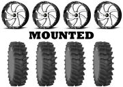 Kit 4 System 3 Xm310r Tires 36x9-20 On Msa M36 Switch Machined Wheels Can