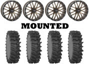 Kit 4 System 3 Xm310r Tires 34x9-20 On System 3 St-3 Bronze Wheels Can