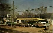 New Albany In Alstottand039s Marine Sale Boats Coke Sign Advertising Postcard