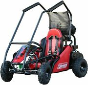 Coleman Off-road Go-karts Red 100cc Engine Single Rider 4 Point Safety Harness