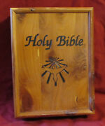 Holy Bible And Wooden Cedar Bible Box Carpenter Union Stamp