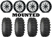 Kit 4 System 3 Xm310 Tires 35x9.5-18 On Itp Hurricane Machined Wheels Can