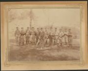 1895 Chicago Maroons Large Baseball Team Photo Possibly With Amos Alonzo Stagg