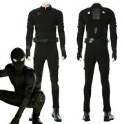 Spider-man Far From Home Peter Parker Cosplay Costume Black Stealth Battle Suit