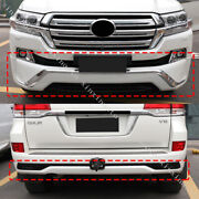 Pearl White Front Rear Bumper Lip Kit Fit For Toyota Land Cruiser Lc200 2016-19