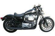 Black Thunderheader 2 Into 1 Exhaust Pipe System Harley Sportster Mid Controls