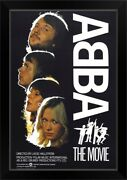 Abba The Movie - Vintage Movie Poster Black Framed Wall Art Print, Music Home