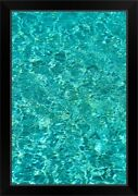 Turquoise Water Reflections Black Framed Wall Art Print Photography Home Decor