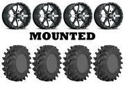 Kit 4 Sti Outback Max Tires 32x9.5-14/32x10-14 On Itp Cyclone Matte Black Can