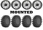 Kit 4 Sti Outback Max Tires 32x10-14 On System 3 Sb-3 Beadlock Machined H700